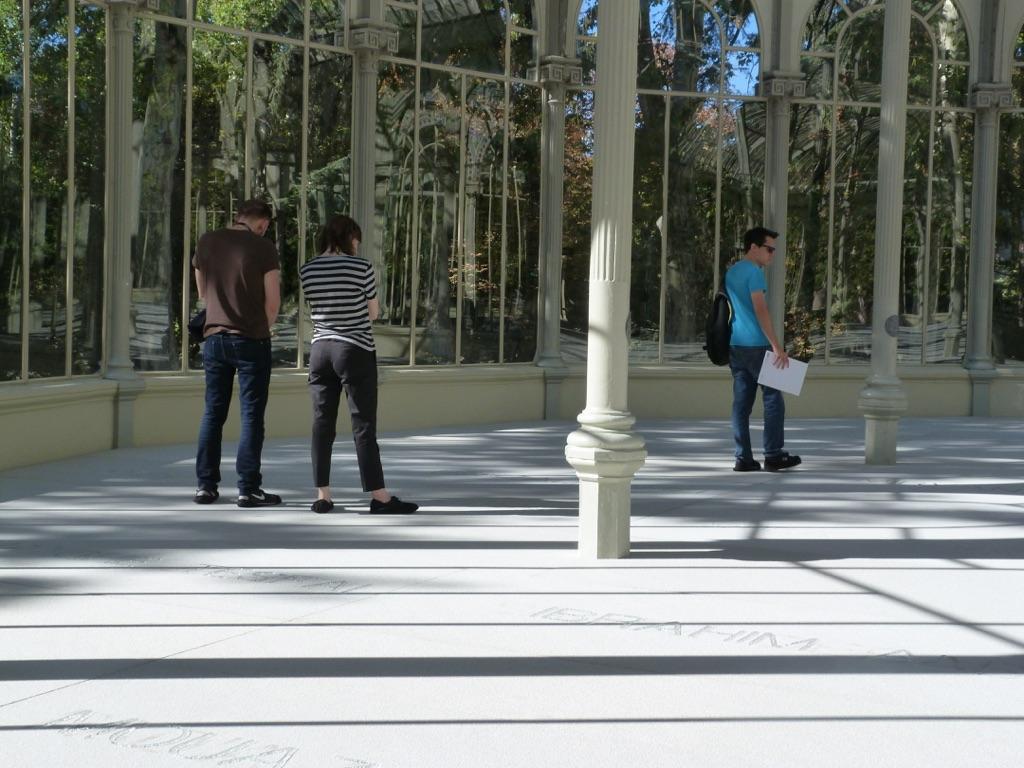 Doris Salcedo, Palimpsesto, 2016-17. Installation view at Palacio de Cristal, Madrid 2017