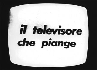Fabio Mauri, Il televisore che piange, 1972. Happening, RAI TV2. Courtesy the Estate of Fabio Mauri and Hauser&Wirth