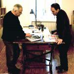 Flavio Arensi con Mimmo Paladino