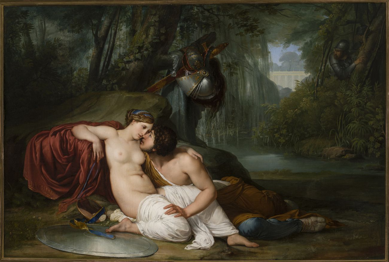 Francesco Hayez, Rinaldo e Armida, 1812-13. Venezia, Gallerie dell'Accademia