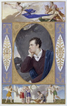 Giovanni Battista Gigola, Ritratto di Lord Byron in The Corsair of Lord Byron, 1826. Brescia, Ateneo di Scienze Lettere ed Arti Onlus. Photo Fotostudio Rapuzzi, Brescia