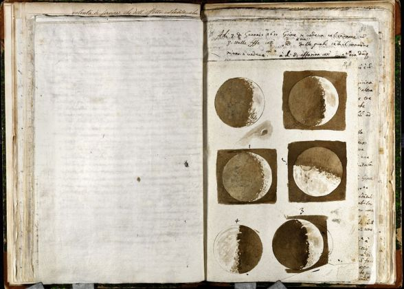 Galileo Galilei, Osservazioni della Luna, novembre dicembre 1609. Firenze, Biblioteca Nazionale Centrale, ms. Gal. 48, c. 28r