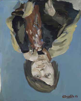 Georg Baselitz, Porträt Elke I, 1969. Collezione privata. © Georg Baselitz, 2018. Photo Jochen Littkemann, Berlino