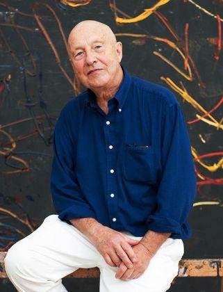 Georg Baselitz nel suo studio, 2014. Photo Peter Knaup, Berlino