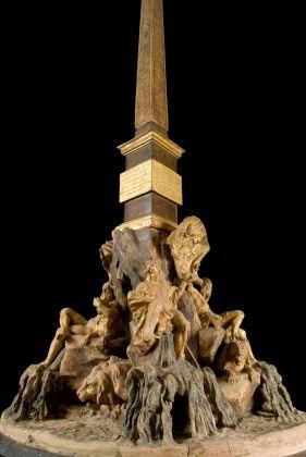 Gian Lorenzo Bernini, Modello di Fontana dei Quattro Fiumi, 1647-48. Collezione privata, Roma