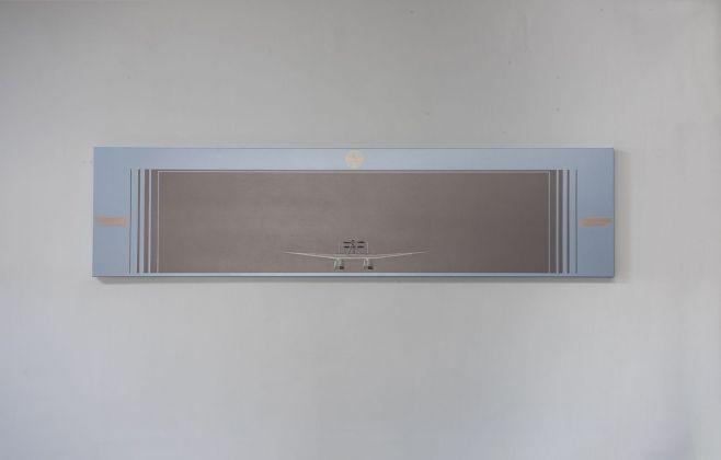 Gianni Piacentino, Metallic SM.55 GP. Profile on light blue gray rectangle (Model '80), 2016