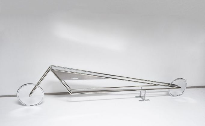 Gianni Piacentino, Nickel Frame vehicle with aluminum triangle tank and wheels_model 71, I, 2013-14