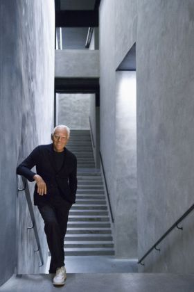 Giorgio Armani all'Armani Silos. Courtesy of Giorgio Armani