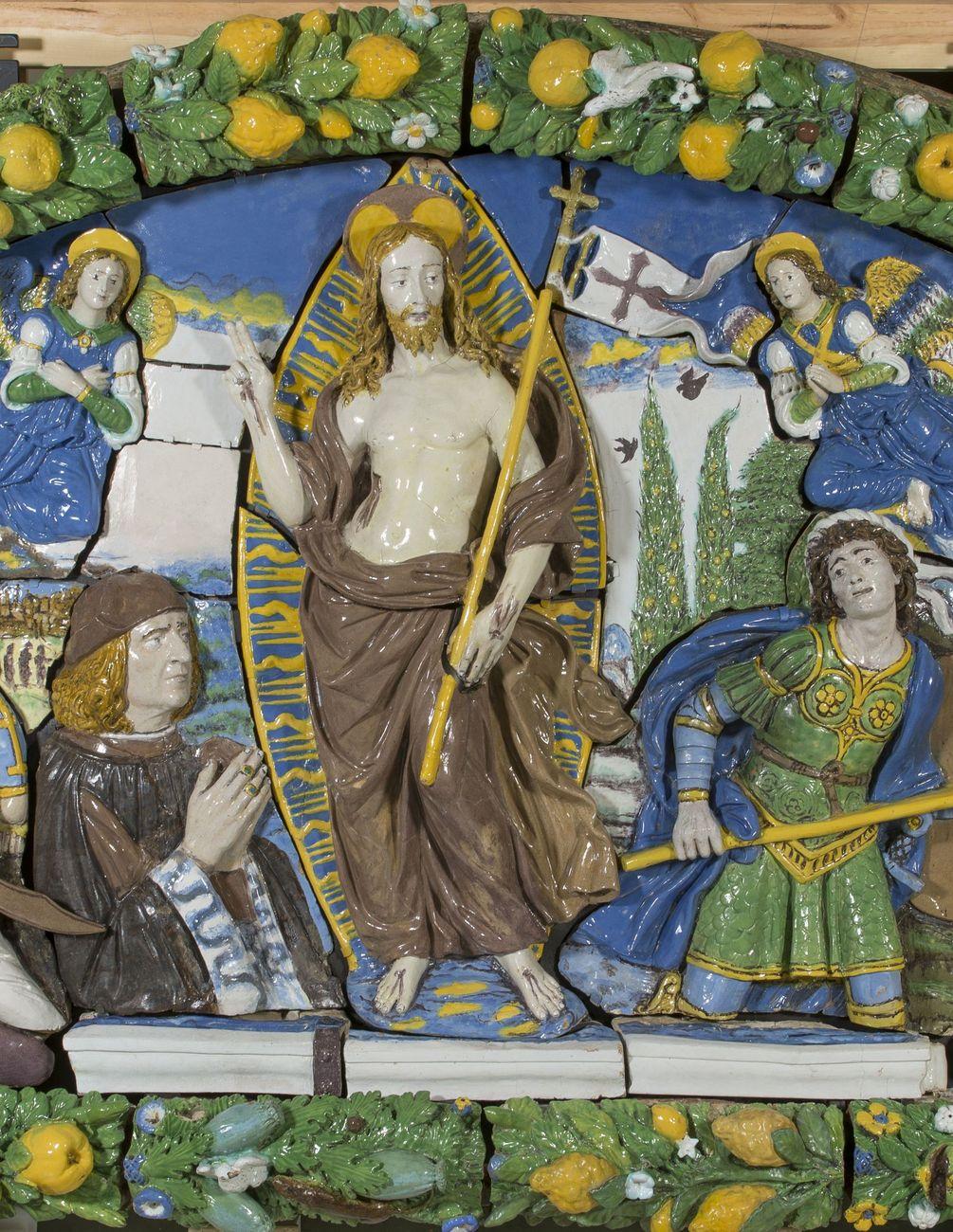 Giovanni della Robbia, Resurrezione di Cristo [particolare], 1520-25 ca. New York, Brooklyn Museum