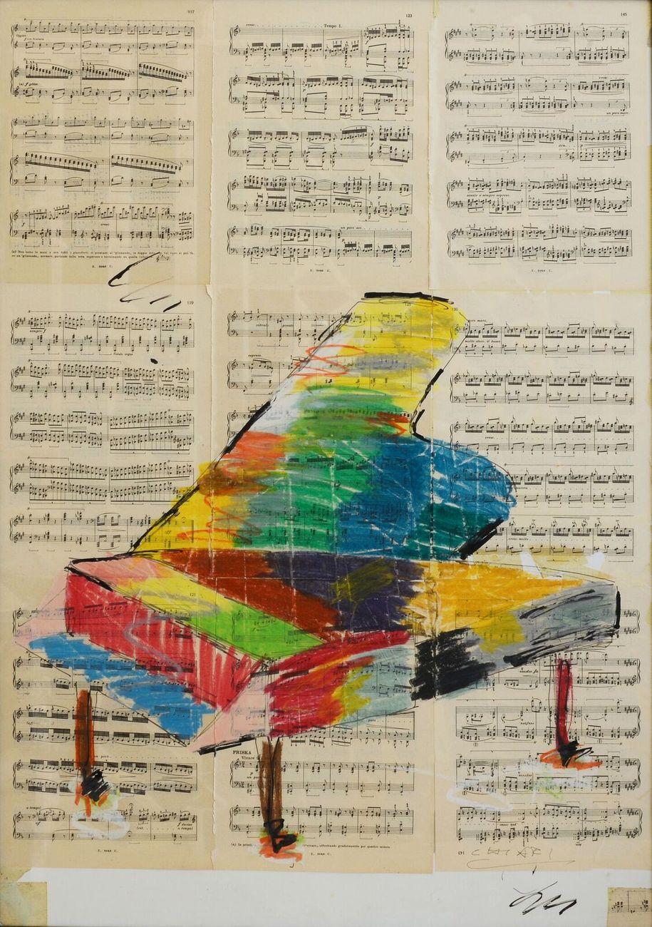 Giuseppe Chiari, Pianoforte su 9 partiture, 1998