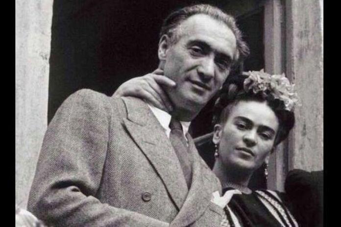 Heinz Berggruen con Frida Kahlo