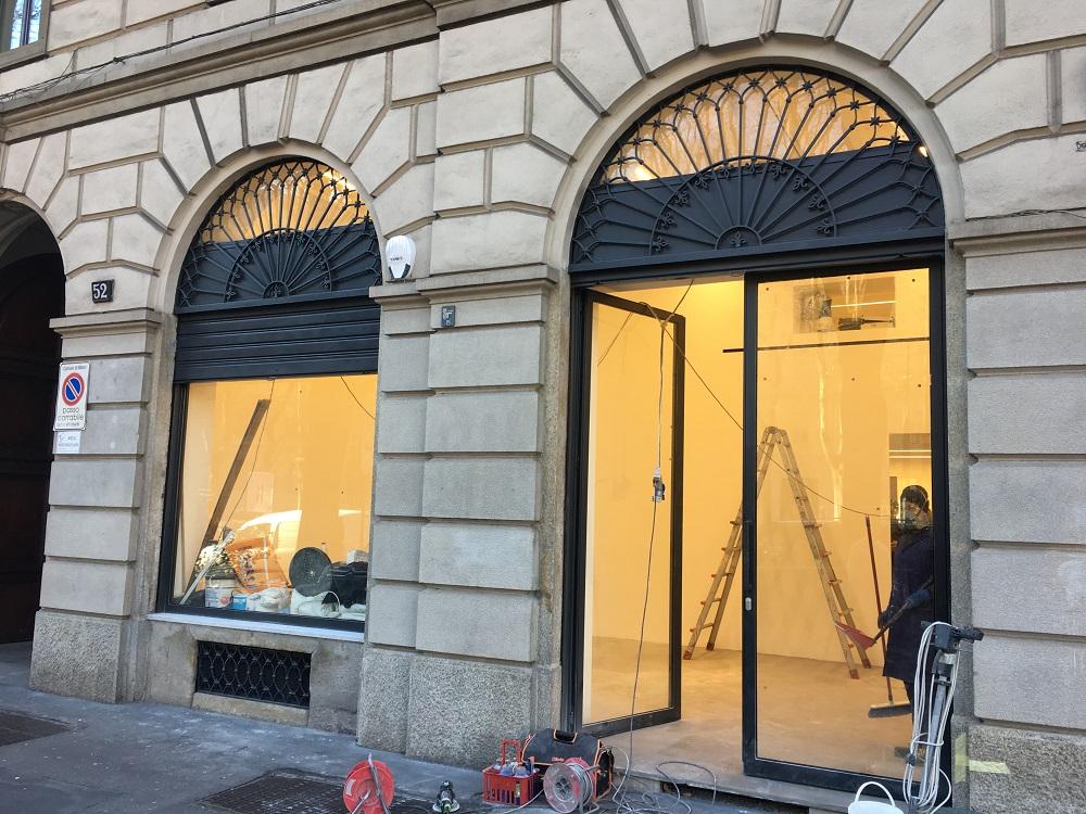 Milano, nuova sede della Galleria Poggiali al Foro Bonaparte