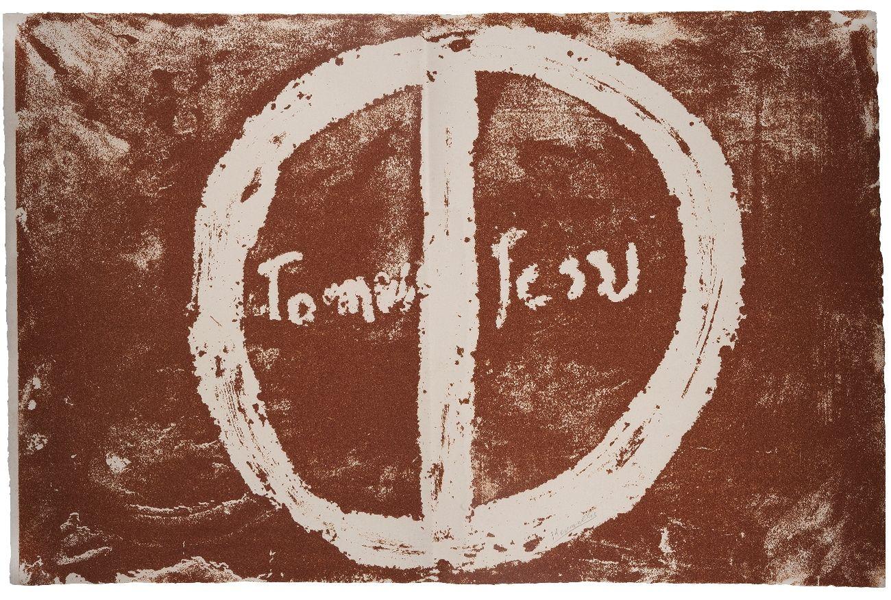 Jannis Kounellis, The Gospel According to Thomas (1), 2000, serigrafia. Photo Antonio Idini