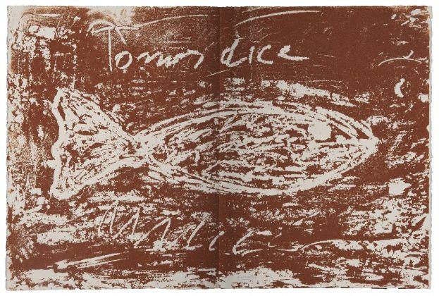 Jannis Kounellis, The Gospel According to Thomas (4), 2000, serigrafia. Photo Antonio Idini