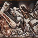 José Clemente Orozco, Cristo destruye su cruz, 1943, olio su tela, Museo de Arte Carrillo Gil