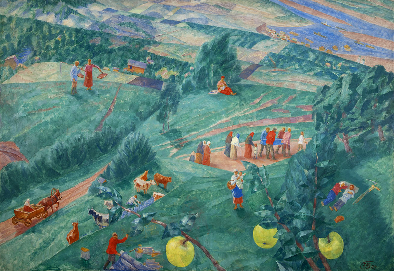 Kuzma Petrov Vodkin, Noon. Summer, 2017, olio su tela, State Russian Museum, St. Petersburg