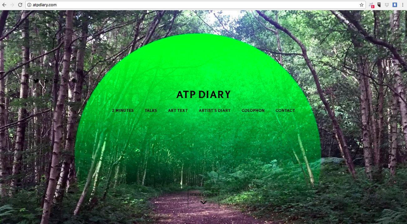 La landing page di ATPdiary