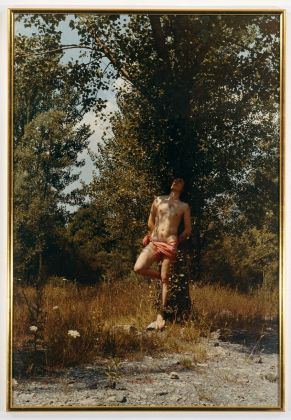 Luigi Ontani, San Sebastiano nel bosco di Calvenzano, d'après Guido Reni, 1970. Collezione Fabio Sargentini, Roma