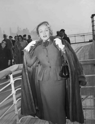 Marlene Dietrich Returning from Europe