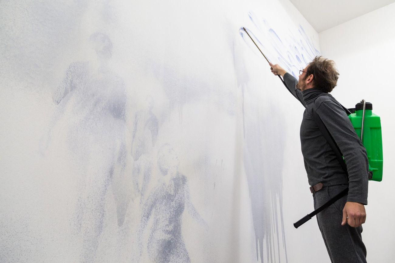 Matteo Montani. Unfolding. Galleria Nicola Pedana, Caserta 2017. Photo © Danilo Donzelli Photography