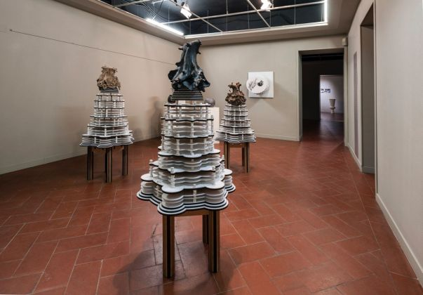 Materia Montelupo. Installation view at Palazzo Podestarile, Montelupo Fiorentino 2017. Michele Guido. Photo Mario Iensi