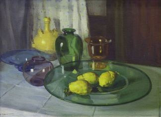 Oscar Sogaro, Trasparenze, 1939. Olio su tela, 65 x 90 cm. MUVE, Ca' Pesaro – Galleria Internazionale d'Arte Moderna. Courtesy MUVE, Venezia