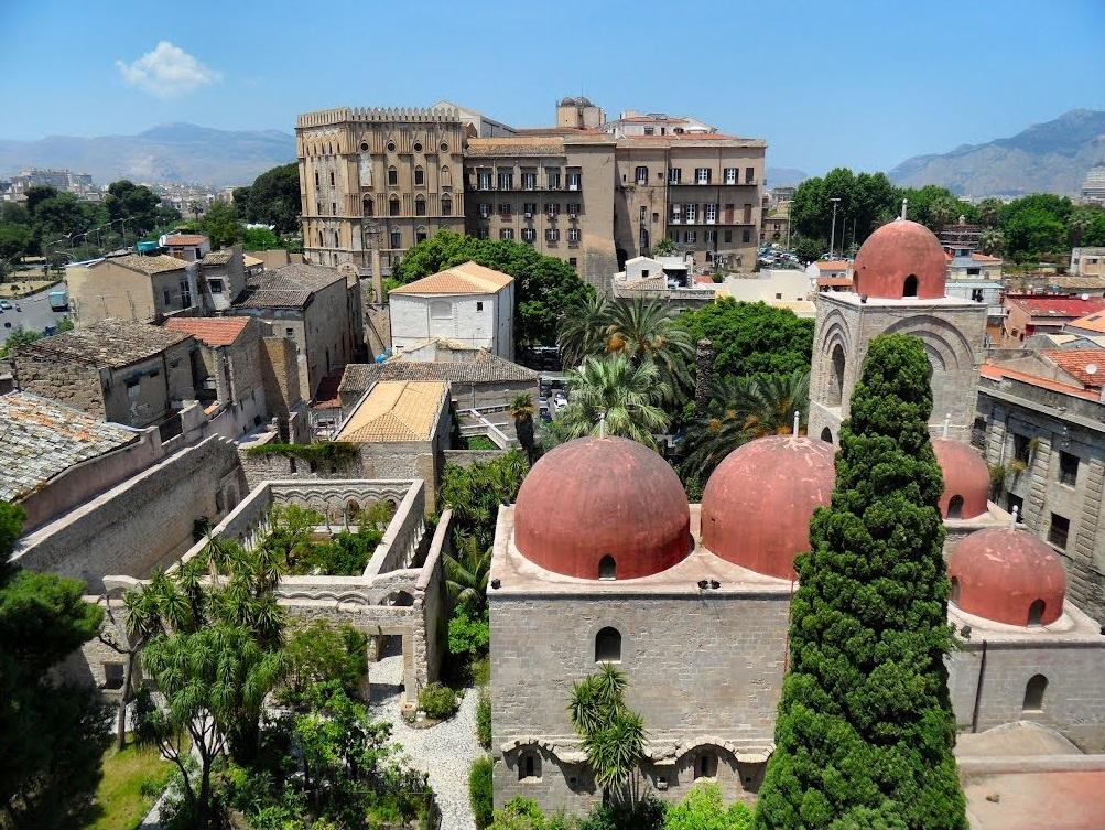 Palermo, vista su San Giovanni degli Eremiti