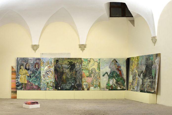 Paola Angelini. La conquista dello spazio. Installation view at Spazio K, Palazzo Ducale, Urbino 2017
