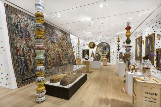 Pascale Marthine Tayou. Beautiful. Exhibition view at The Bass Museum of Art. Photo Zachary Balber