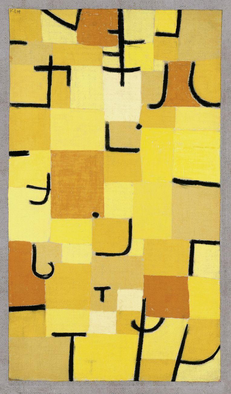 Paul Klee, Zeichen in Gelb, 1937. Fondation Beyeler, Riehen. Photo Robert Bayer