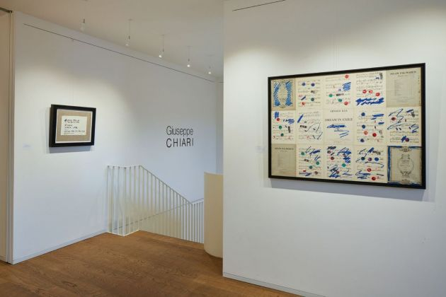 PentaChiari. Cinque gallerie per Giuseppe Chiari. Installation view at Tornabuoni Arte, Firenze