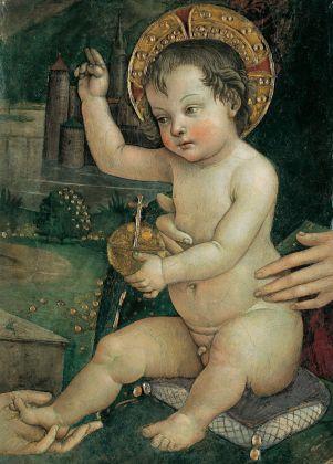 Pintoricchio, Bambin Gesù delle mani, 1492 ca. Fondazione Guglielmo Giordano, Perugia. Credits Fondazione Guglielmo Giordano