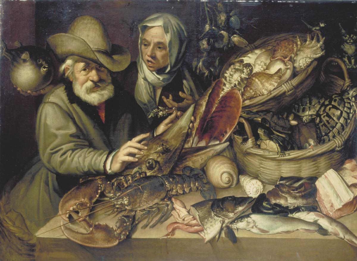 FIRENZE GALLERIE DEGLI UFFIZI GALLERIA DELLE STATUE E DELLE PITTURE, Gherardo delle Notti, CENA CON SPONSALI, 1617