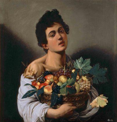 ROMA. GALLERIA BORGHESE Caravaggio FANCIULLO CON CANESTRO DI FRUTTA, 1593 1594