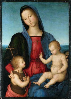 Raffaello, Madonna col Bambino (Madonna Diotallevi), 1502 ca. Staatliche Museen zu Berlin, Gemäldegalerie, Berlino. Credits Staatliche Museen zu Berlin, Gemäldegalerie. Photo Jörg P. Anders