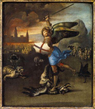 Raffaello, San Michele e il drago, 1505 ca. Musée du Louvre, Parigi. Credits Paris, Musée du Louvre, Département des Peintures