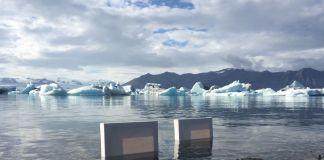 Roberto Ghezzi. Installazione ambientale in Islanda