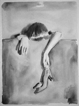 Romina Bassu, Rhapsody #5, 2017, acquerello