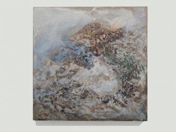 Sabrina Casadei, Cosmos #1, 2017, tecnica mista su tela, 65 x 65 cm