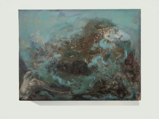 Sabrina Casadei, Terre emerse #1, 2017, tecnica mista su tela, 30 x 40 cm