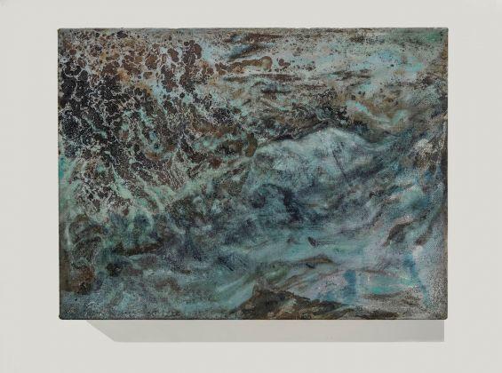Sabrina Casadei, Terre emerse #2, 2017, tecnica mista su tela, 30 x 40 cm