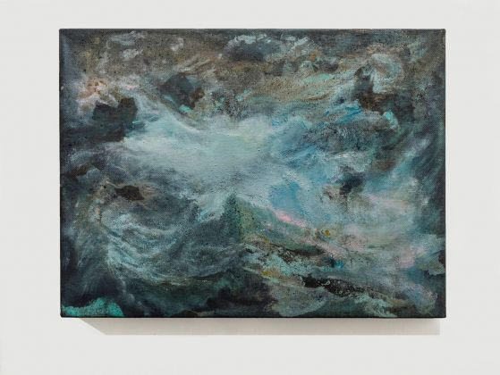 Sabrina Casadei, Terre emerse #4, 2017, tecnica mista su tela, 30 x 40 cm