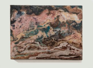 Sabrina Casadei, Terre emerse #5, 2017, tecnica mista su tela, 30 x 40 cm