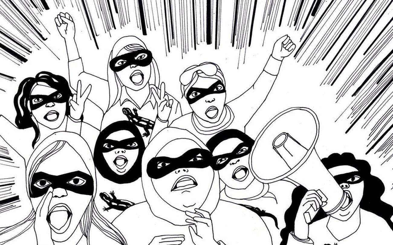 Tavola della disegnatrice Lena Merhej del collettivo Samandal
