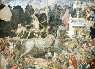 Trionfo della Morte, affresco staccato (600 x 642 cm), Galleria regionale di Palazzo Abatellis, Palermo