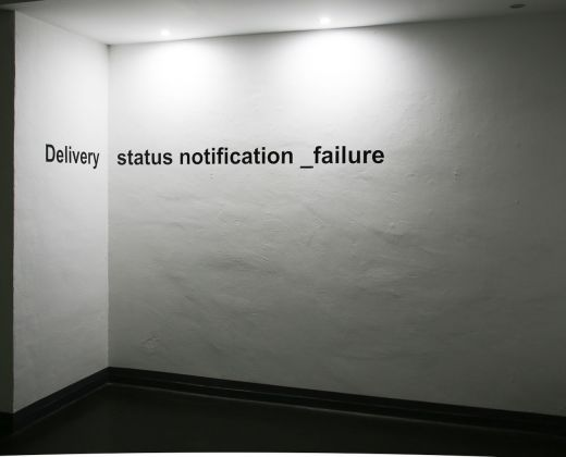Valeria Dardano. Delivery status notification _failure. Fusion Art Gallery Inaudita, Torino 2018