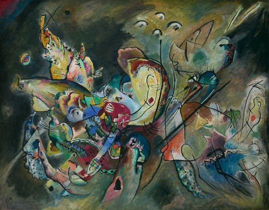 Vasiliy Kandinskiy, Troubled, 1917, Tretyakov Gallery