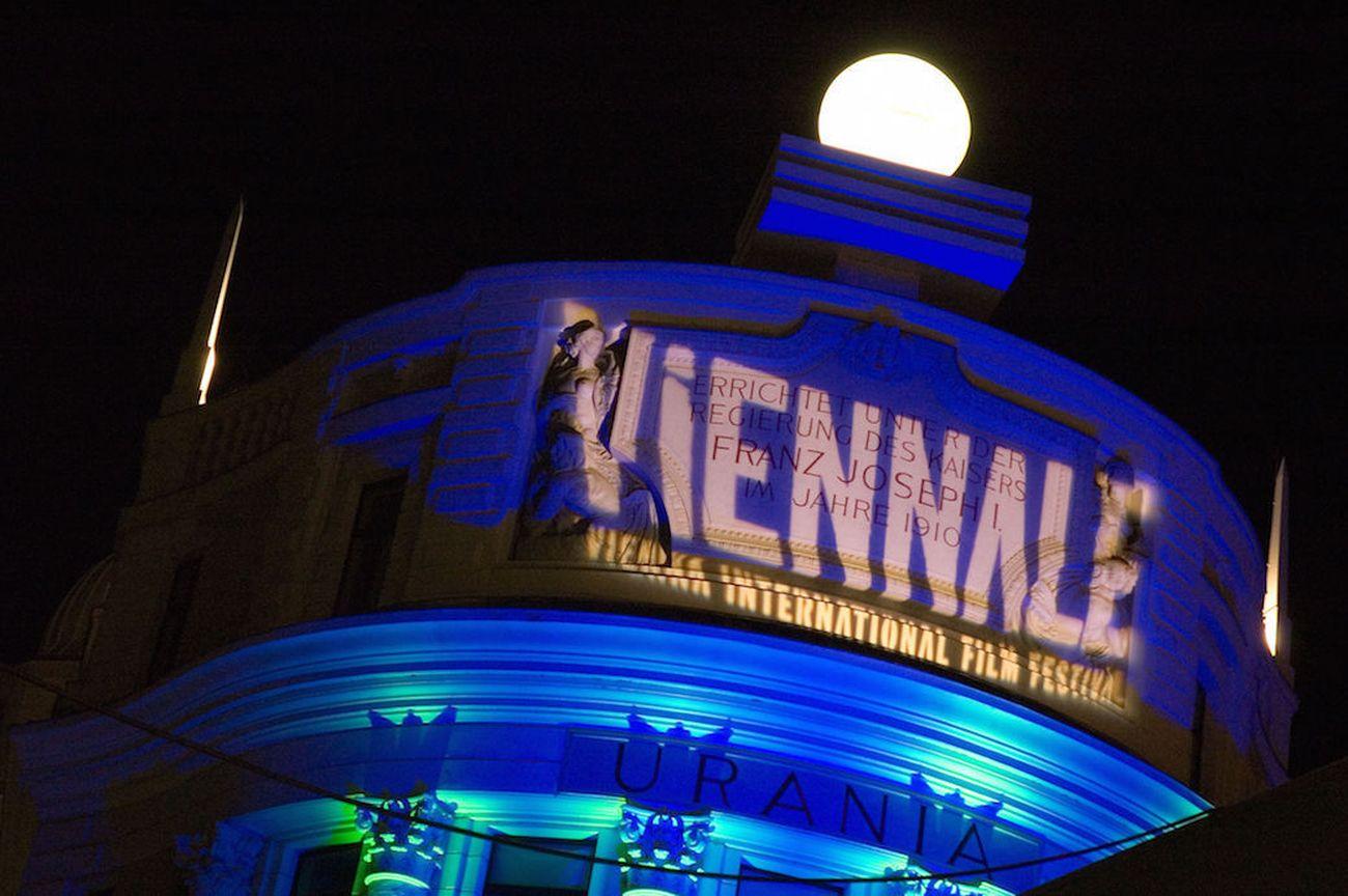 Viennale, Schriftzug auf der Urania Kino. Courtesy Viennale. Photo © Alexi Pelekanos