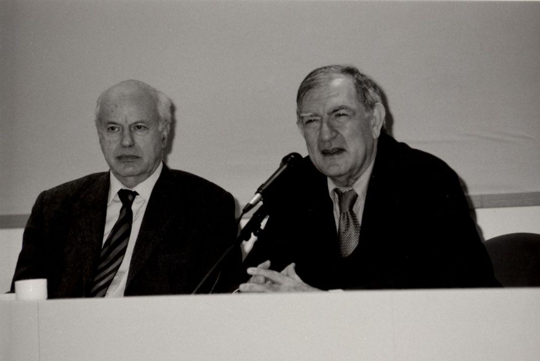 Vittorio Fagone con Renato Barilli