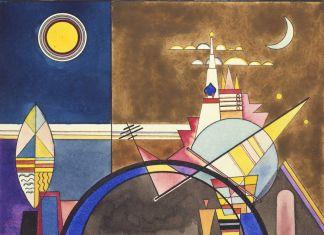 Wassily Kandinsky, La grande porta di Kiev, XVI, 1930. Theaterwissenschaftliche Sammlung in der Universität, Colonia. Disegni scenografici per Mussorgsky